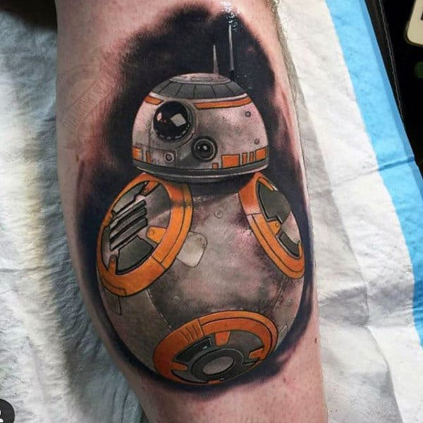 Spherical Robot Star Wars Tattoo Male Forearm