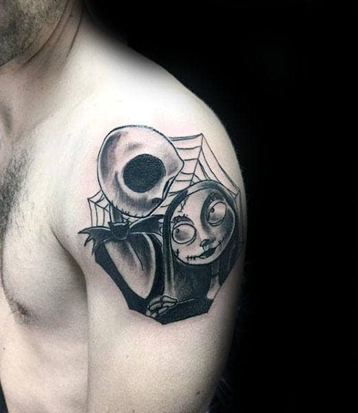 100 nightmare before christmas tattoos for men design ideas for Tattoo nightmares shop website