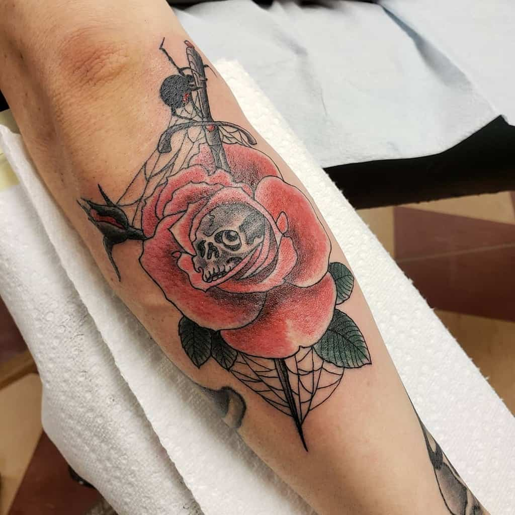 spider-web-rose-and-skull-tattoo-tattoos_by_scott
