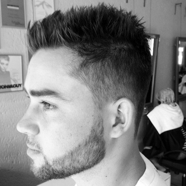 Spiky Classic Male Short Haircuts For Thinning Hair