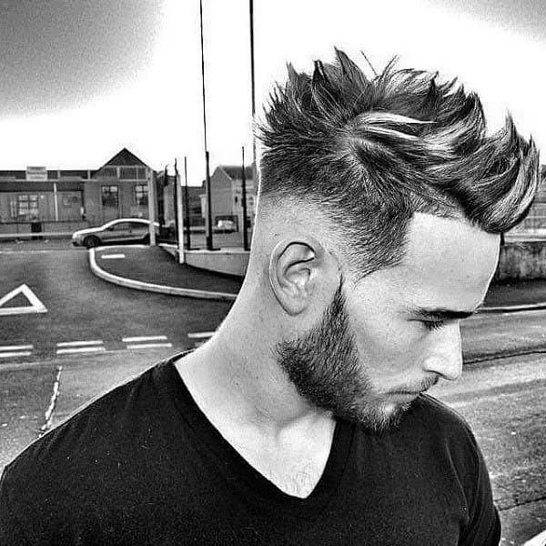 Spiky Mens Low Fade Hairstyles