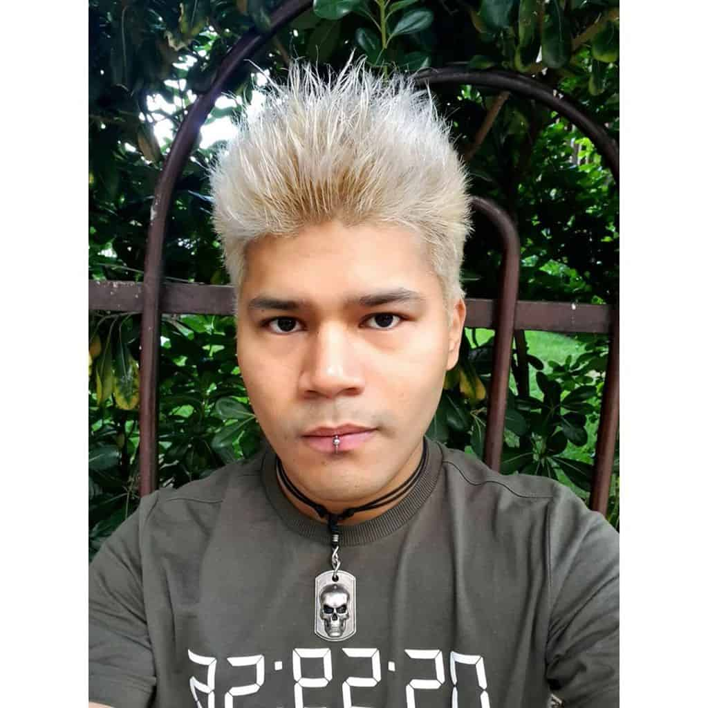 Spiky White Hair Cut
