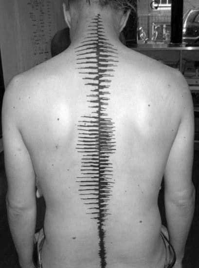 Spine Soundwave Male Tattoos