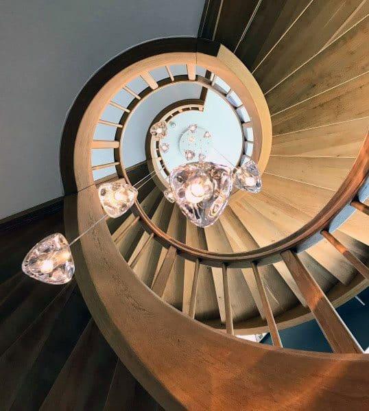 Spiral Luxury Wood Stairs Ideas