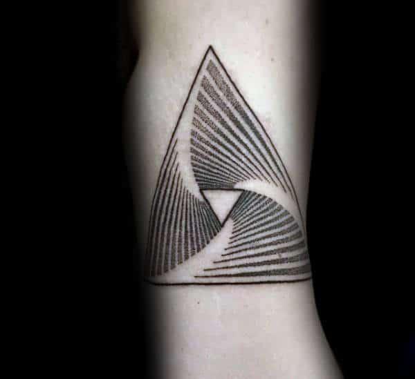 Spiral Shape Pointillism Mens Tattoos