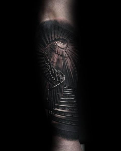 Spiral Staircase Forearm Coolest Tattoos For Men