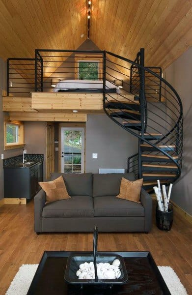 Spiral Staircase Loft Ideas