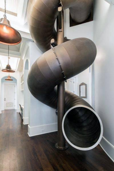 Spiral Steel Indoor Slide Ideas
