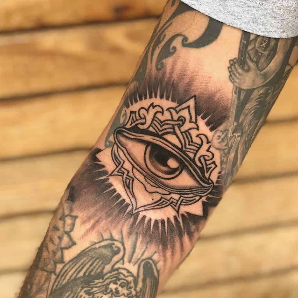Spiral Third Eye Tattoo