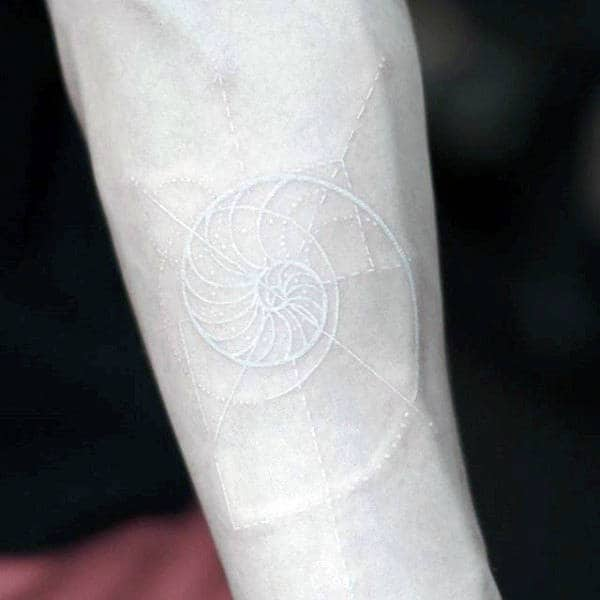 Spiral White Ink Wrist Male Tattoos