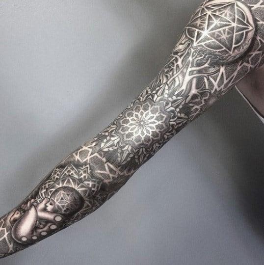 Spirals Sacred Geometry Tattoo For Men
