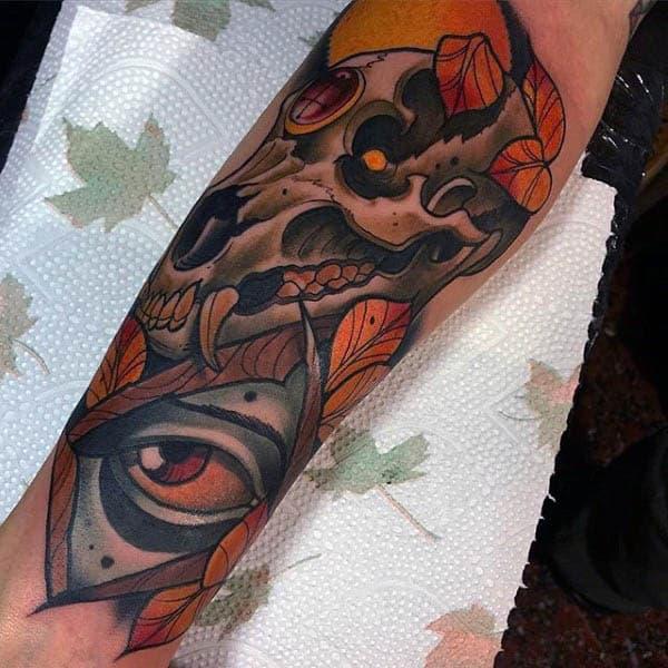 Splendid Neo Traditional Tattoo Mens Forearms