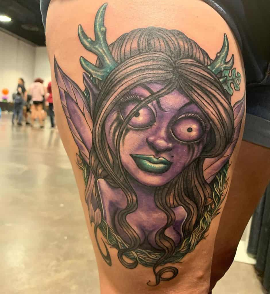 Spooky Empire Free Hand Fairy Tattoo