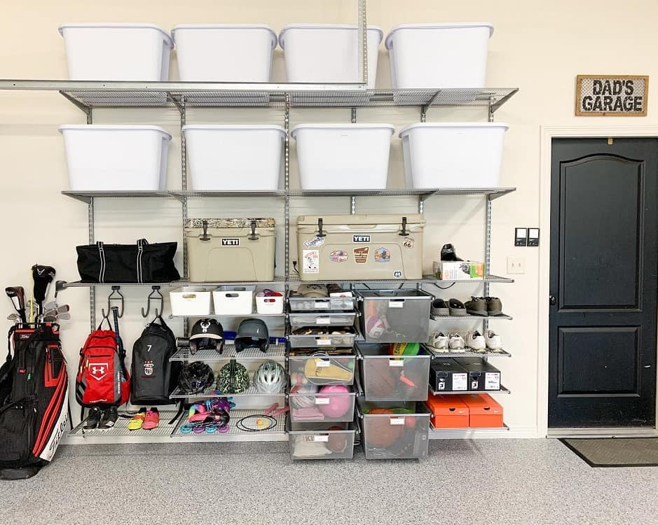 Sports Equipment Garage Organization Lizhollemanorganizingsolutions