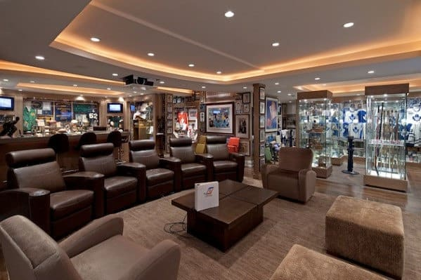 Sports Fan Man Cave Ideas