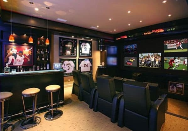 Marvelous Sports Home Bar