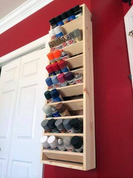 Spray Paint Cans Tool Storage Ideas
