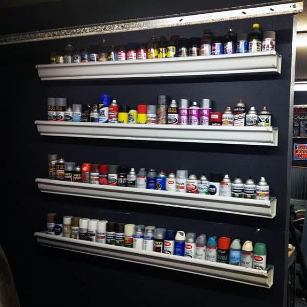 Spray Paint Cans Wall Rack Garage Storage Shelf Ideas