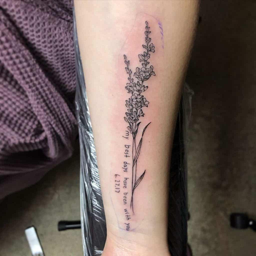 Sprigs Lavander Tattoo