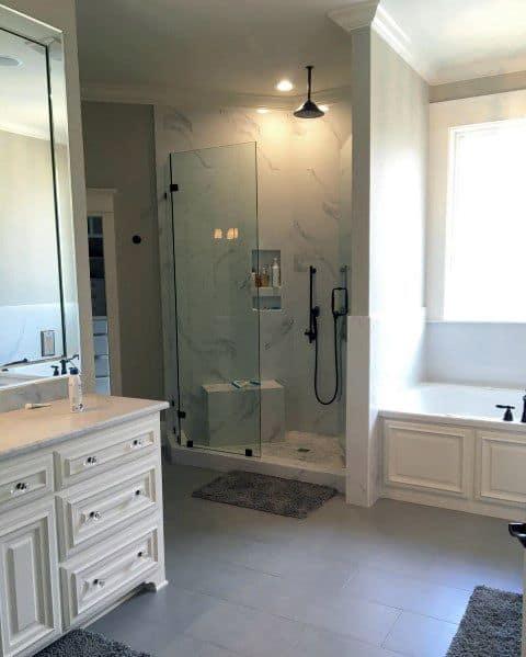 irregular shaped small shower ideas