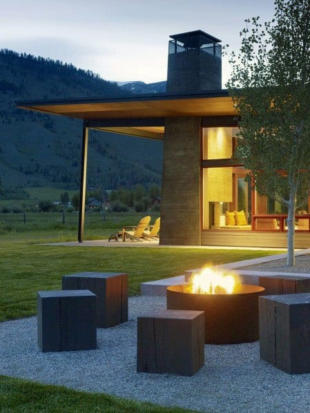 Square Cubes Designs For Fire Pit Seating