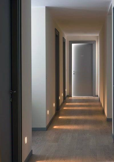 Square In Wall Hallway Lighting Ideas