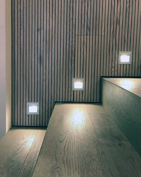 Square Led Interior Ideas For Staircase Lighting