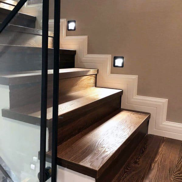 Lighting Basement Washroom Stairs: Top 60 Best Staircase Lighting Ideas
