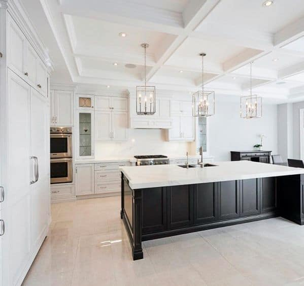 Square Metal Chandeliers Kitchen Island Lighting