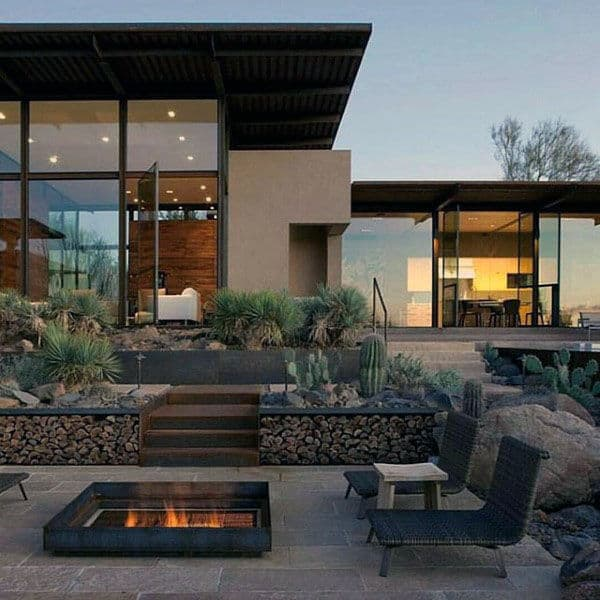Square Outdoor Fire Pit Design Ideas