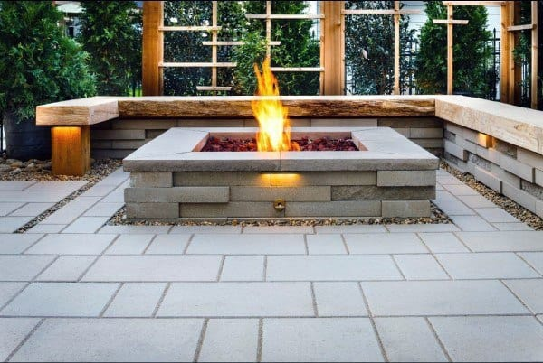 Square Outdoor Fire Pit Ideas