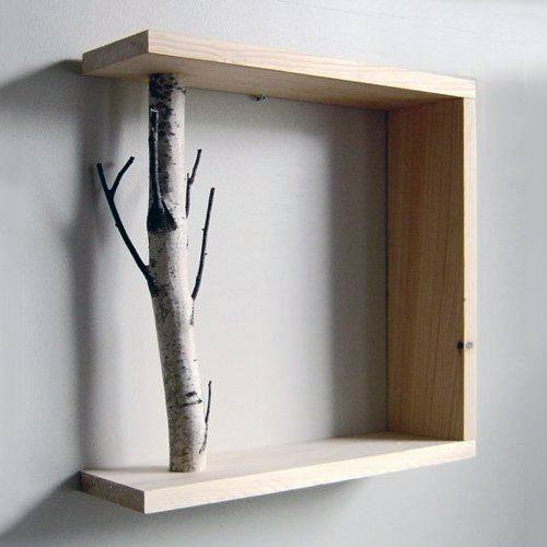 Square Tree Branch Frame Cheap Man Cave Decor Design Ideas