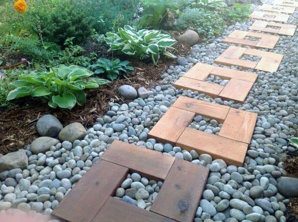 Square Wooden Walkway Idea Inspiration