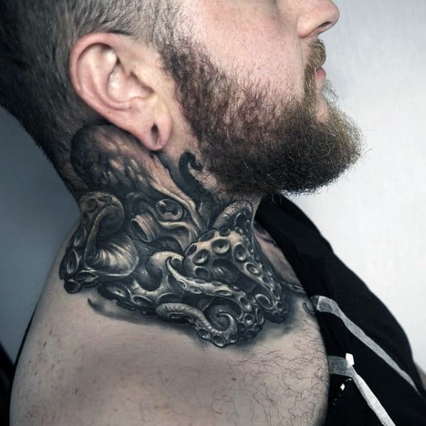 125 Top Neck Tattoo Designs This Year: Top 40 Best Neck Tattoos For Men