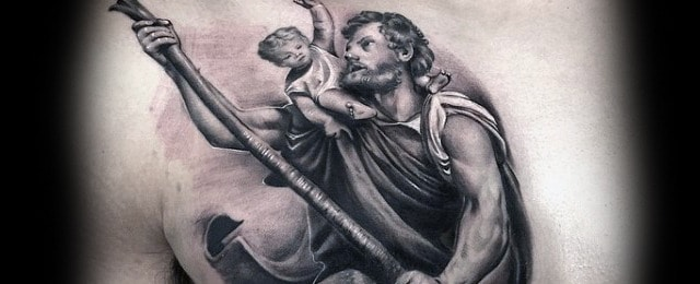 40 St Christopher Tattoo Designs For Men – Manly Ink Ideas