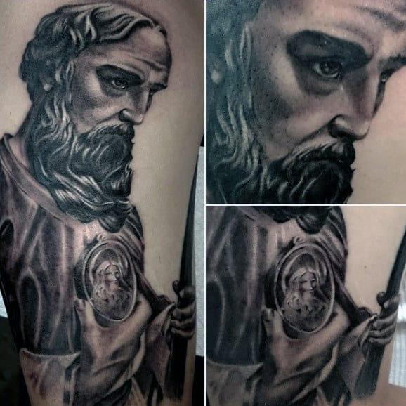 St Jude Male Religious Arm Tattoo Ideas