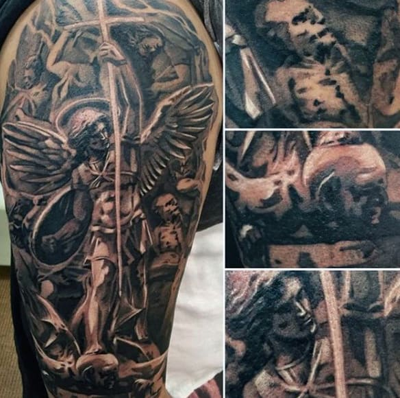 St Michael Archangel Tattoos For Males