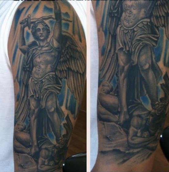 St Michael Tattoo Ideas For Men