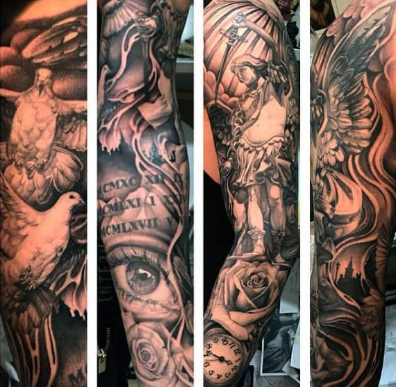 St Michael Tattoo Ink For Men