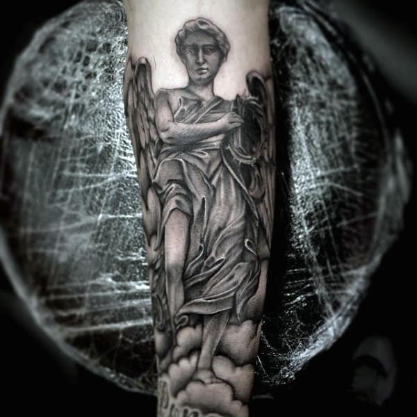 St Micheal Best Christian Tattoos For Men On Forearm