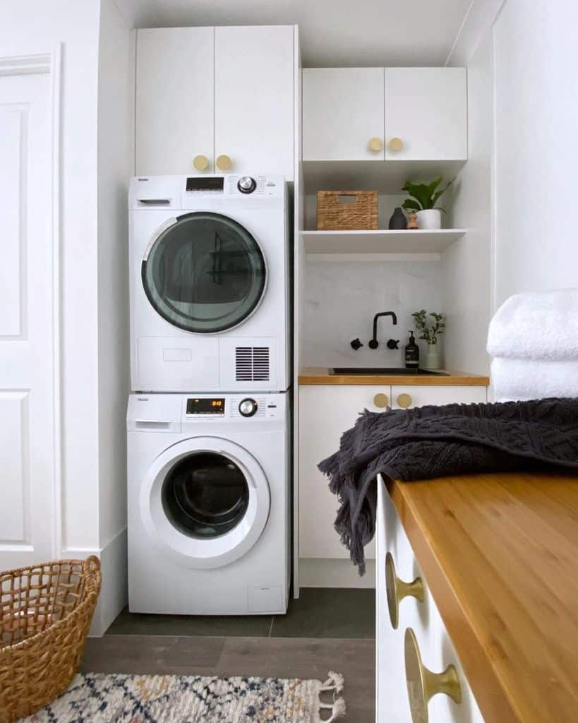 stackable laundry room cabinet ideas thestylingmama