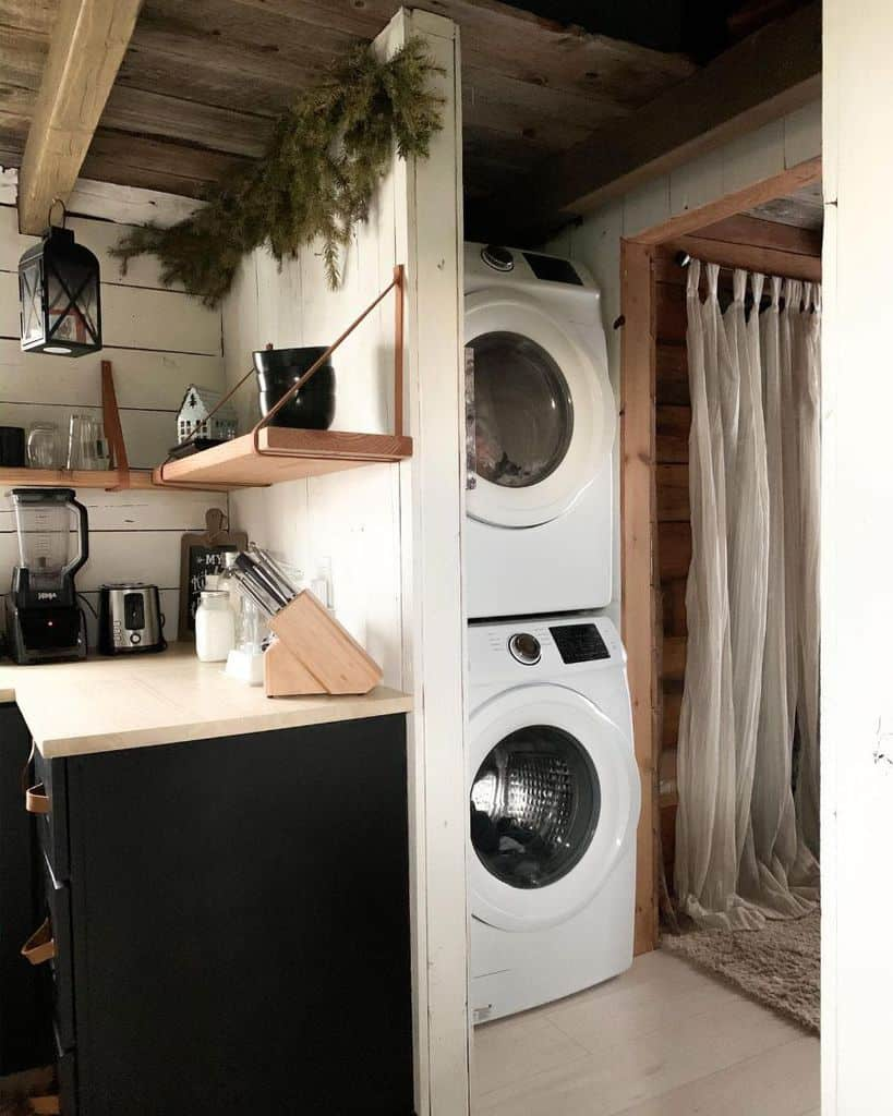 Stacked Small Laundry Room Joriwilkinson