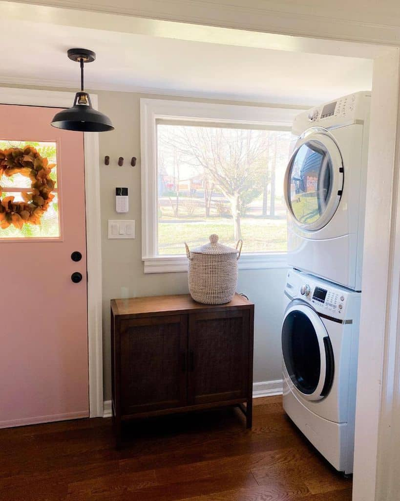 Stacked Small Laundry Room Rosedoorhome