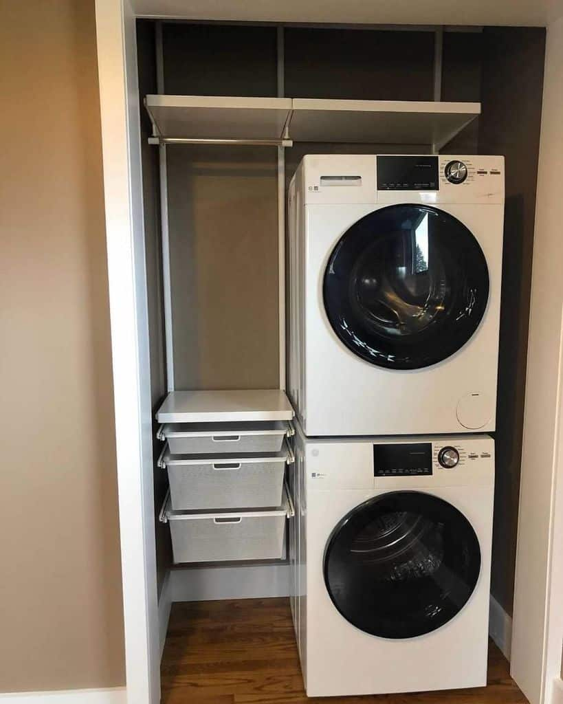 Stacked Small Laundry Room Serenityathomedetroit