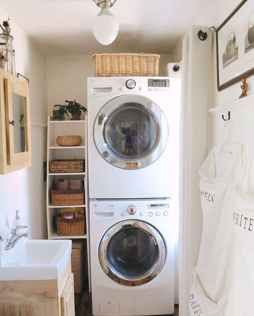 Stacked Small Laundry Room Thelongawaitedhome