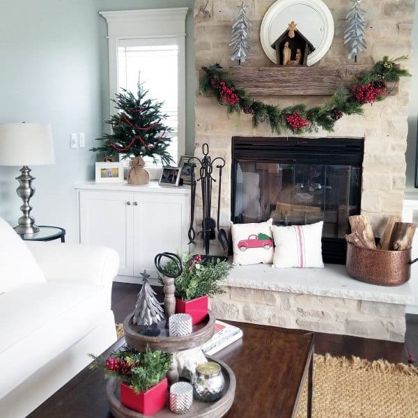 Stacked Stone Fireplace Designs