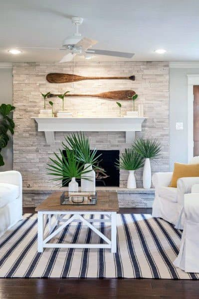 Stacked Stone Fireplace Spectacular Ideas