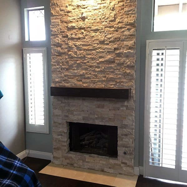 Stacked Stone Fireplace Surround Ideas