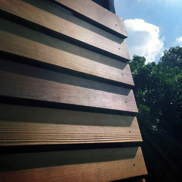 Stacked Wood Boards Excellent Exterior Ideas House Siding
