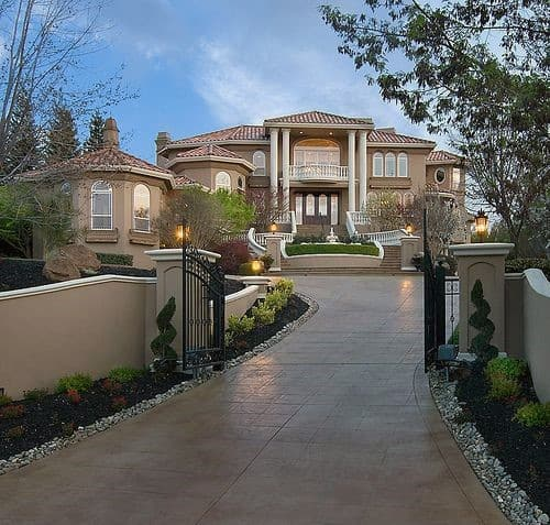 Stained Design Ideas For Concrete Driveway